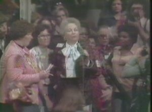 Ann Richards at the National Women's Conference (1977)