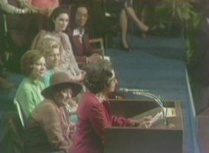 Lady Bird Johnson at the National Women's Conference (1977)