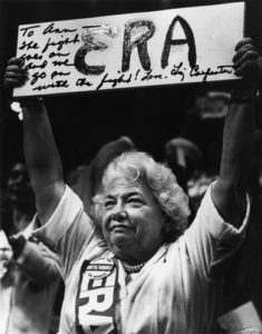 Liz Carpenter at an ERA Rally (1980)